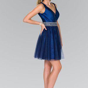V-Neck A-Line Shape Short Prom Dress GS2413